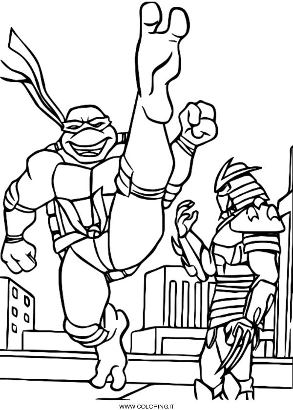 Tartarughe Ninja Disegni Da Colorare Coloring It
